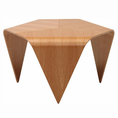 artek trienna coffee table in natural lacquered walnut veneer