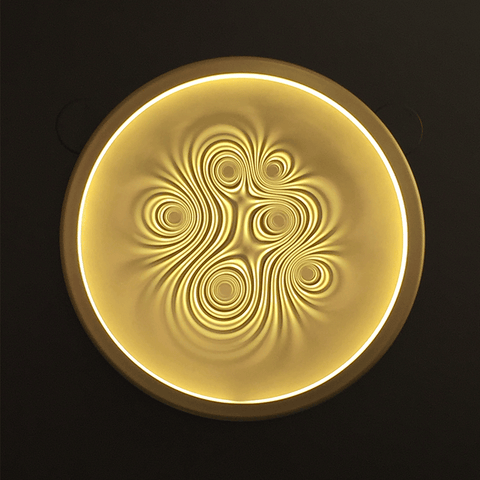 artemide nebula wall & ceiling lamp in gold