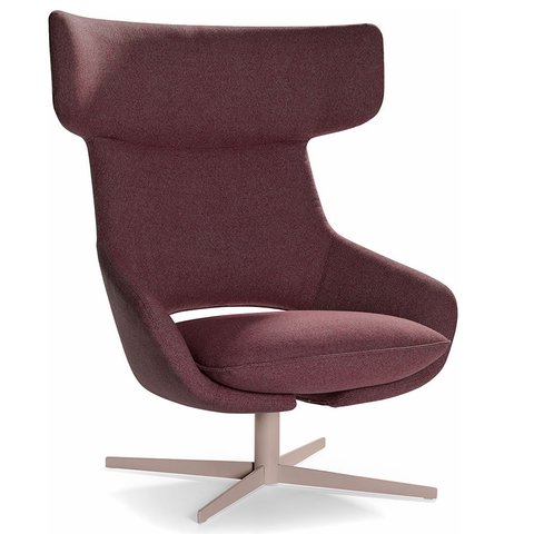 artifort kalm swivel metal base lounge chair