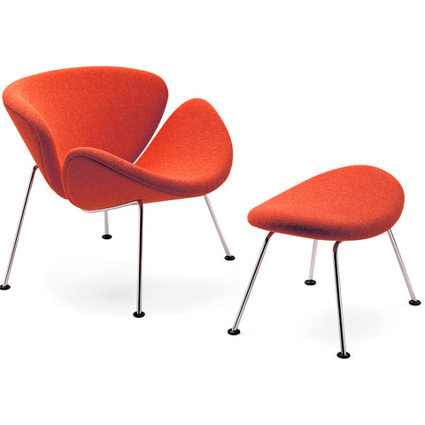artifort orange slice chair with ottoman