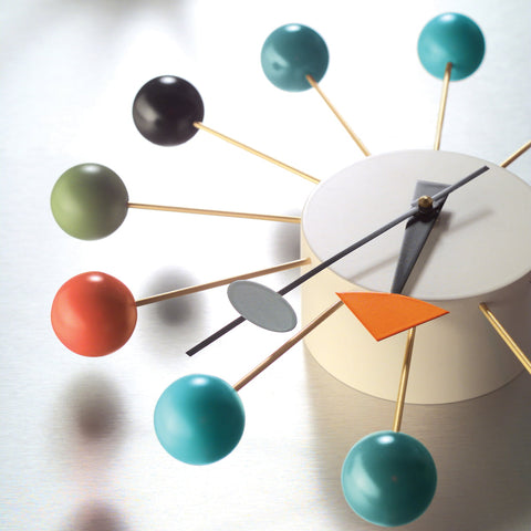 vitra ball clock in multicolor