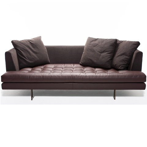 bensen edward fabric sofa with leather seat