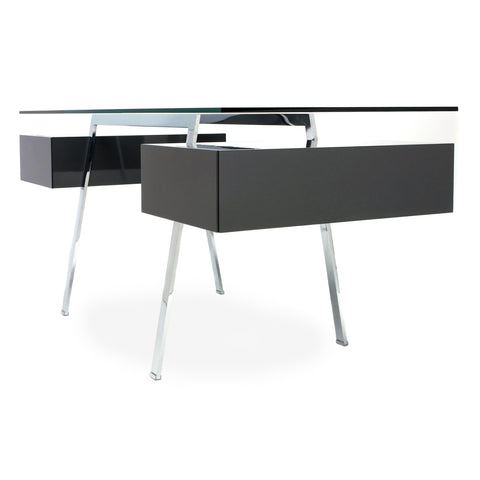 bensen homework desk 2 glass top