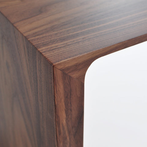 bensen radius bench in walnut