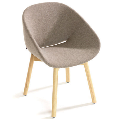 artifort beso wood 4 leg armchair