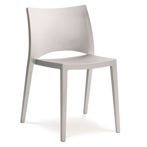 bontempi casa aqua stackable chair in white