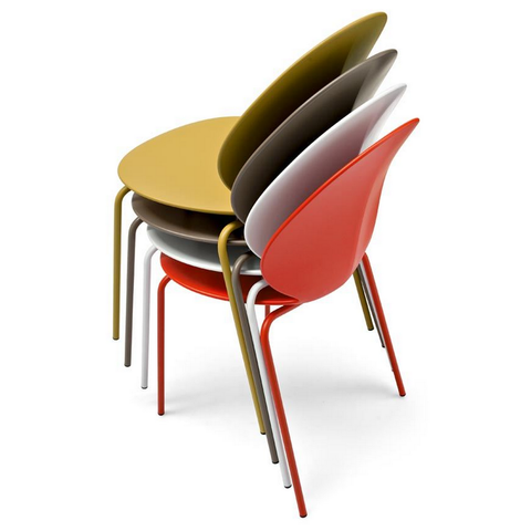 calligaris basil stackable chair colors