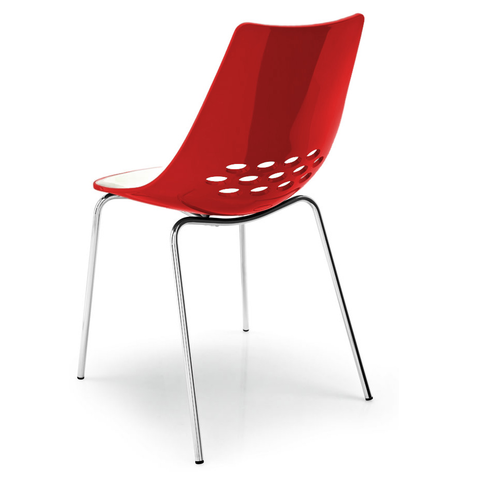 calligaris jam chair in red