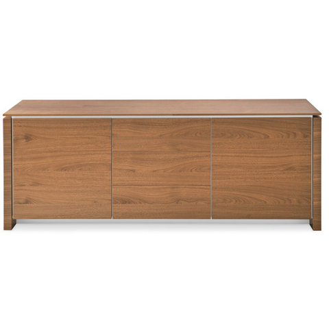 calligaris mag cabinet in walnut