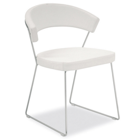 calligaris new york leather dining chair