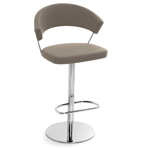 calligaris new york swivel stool in taupe
