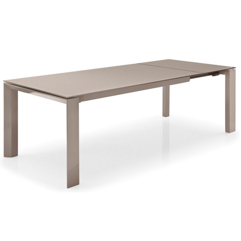 calligaris omnia 180 extendable glass dining table