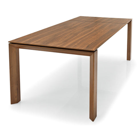 calligaris omnia 180 extendable wood dining table