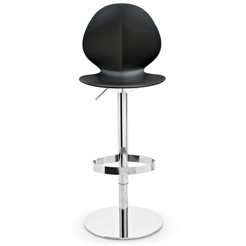 calligaris basil adjustable bar stool in black