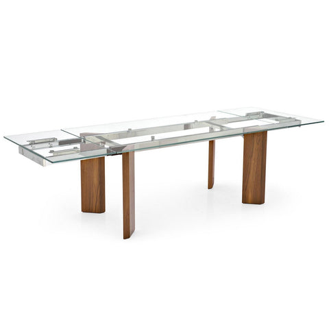 calligaris tower wood dining table