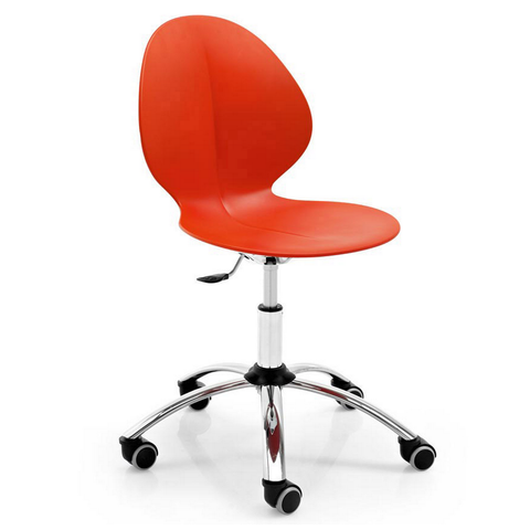 calligaris basil swivel office chair in red