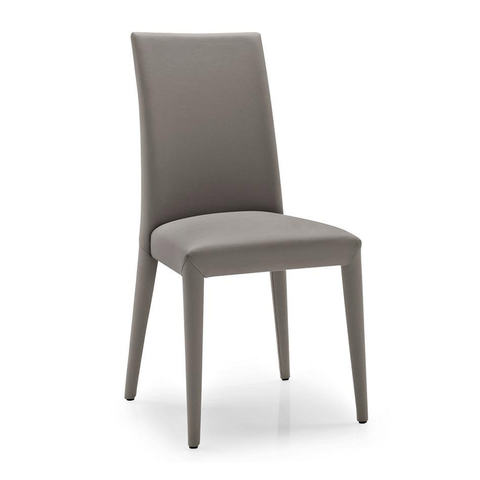 calligaris anaïs leather chair in taupe