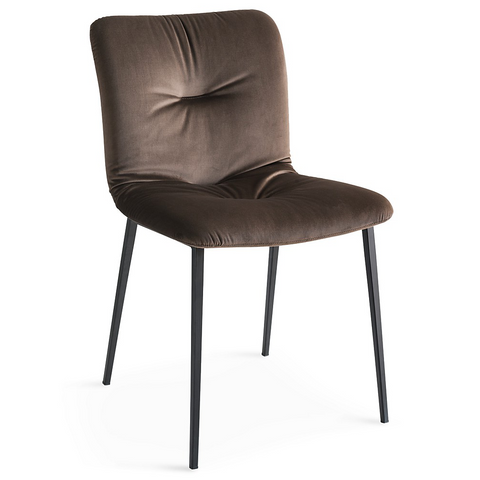 calligaris annie soft chair metal legs