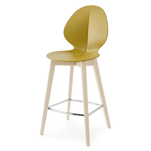 calligaris basil counter stool wood legs