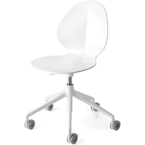 calligaris basil office chair in white
