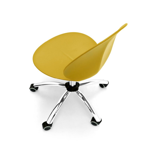 calligaris basil swivel office chair top view