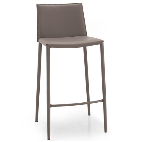 calligaris boheme counter stool in taupe