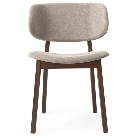 calligaris claire chair in cord and wenge