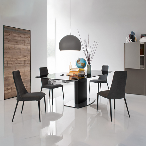 calligaris etoile dining chair metal frame staged