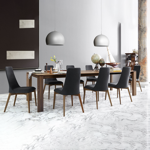 calligaris etoile dining chair wood frame staged