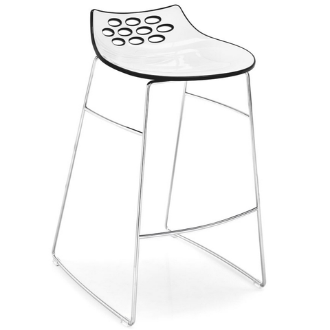 calligaris jam counter stool in black