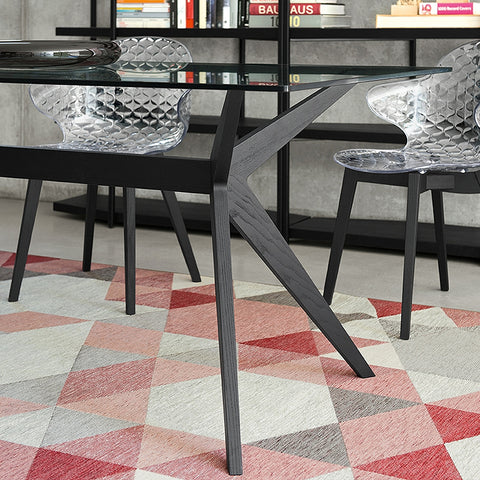 calligaris kent dining table legs staged