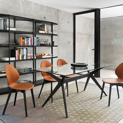 calligaris kent dining table staged