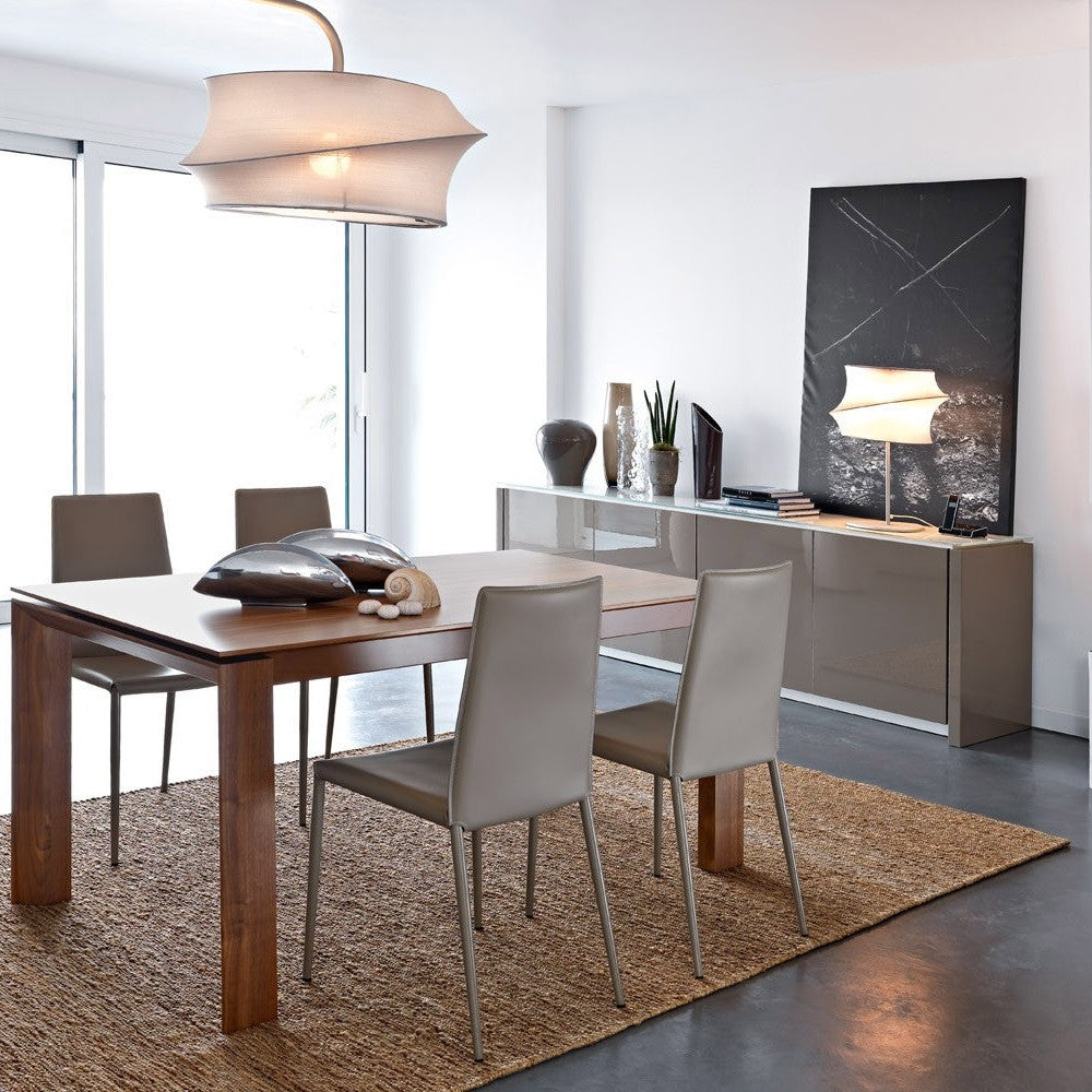 calligaris lighting. calligaris omnia 160 dining table staged lighting