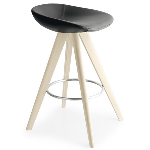 calligaris palm counter stool wood legs