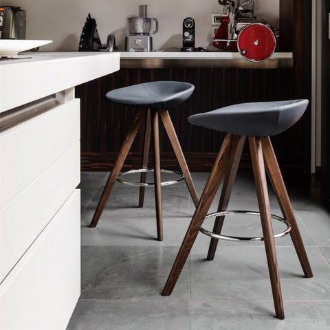 calligaris palm counter stool wood legs staged