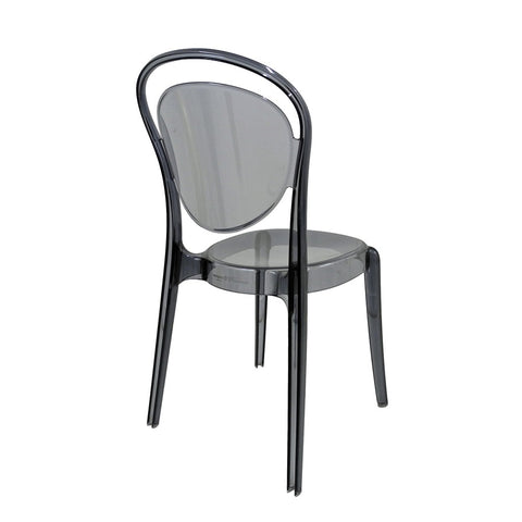 calligaris parisienne chair in transparent smoke grey