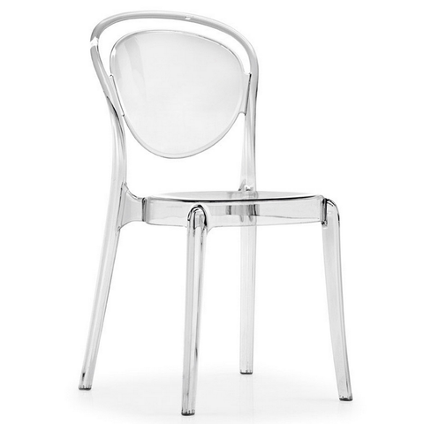 calligaris parisienne chair in transparent