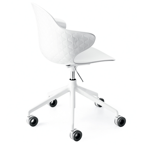 calligaris saint tropez office chair in white