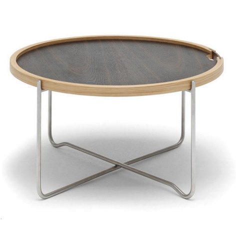 carl hansen ch417 tray table in black top