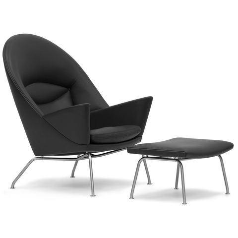 carl hansen ch468 oculus lounge chair and footrest