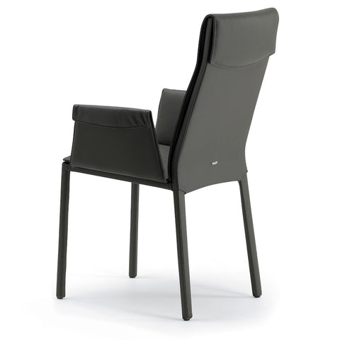 cattelan isabel high back dining chair with arms