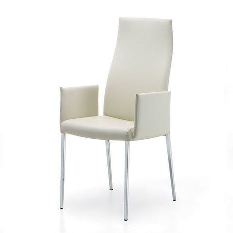 cattelan anna highback dining chair with arms