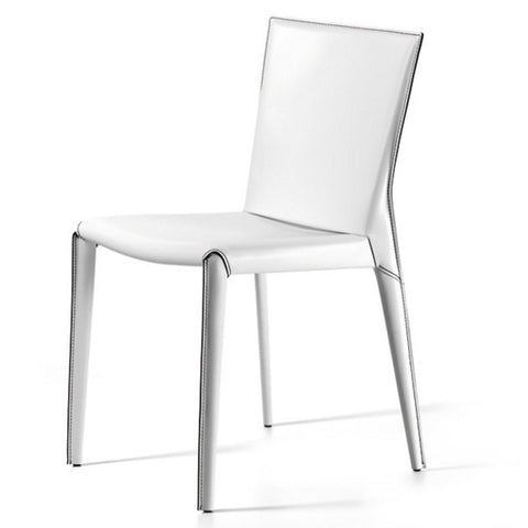 cattelan beverly dining chair in white