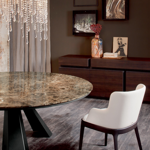 cattelan eliot round dining table with marble top