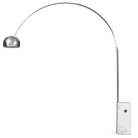 flos arco marble floor light side