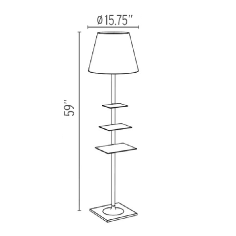 flos bibliotheque nationale floor lamp specs