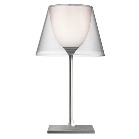 flos ktribe t1 table lamp in transparent