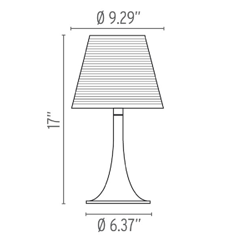 flos miss k table lamp specs
