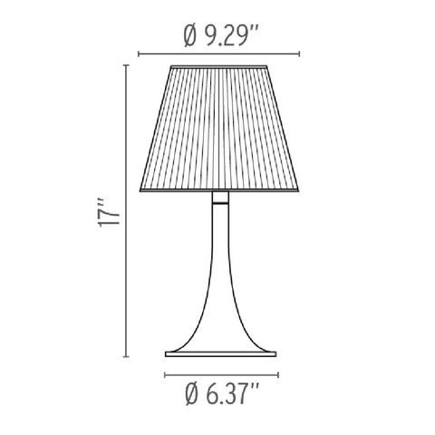 flos miss k soft table lamp specs