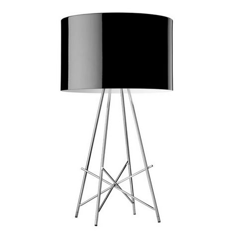 flos ray t table lamp in black